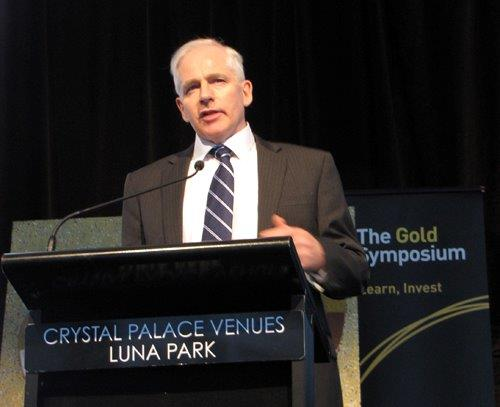 David Evans speaking at Gold Symposium 2012